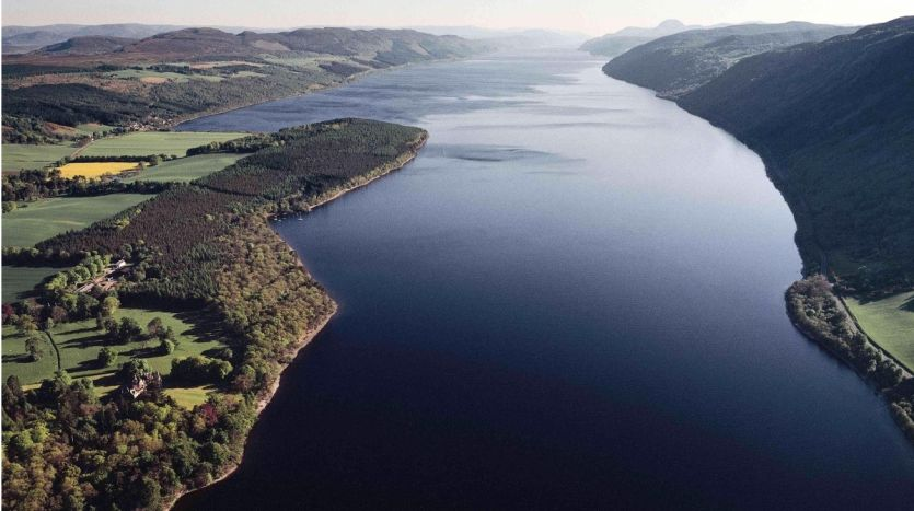 Air view of Loch Ness and estate