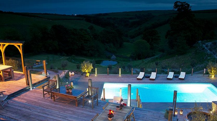 Outdoor pool and decking