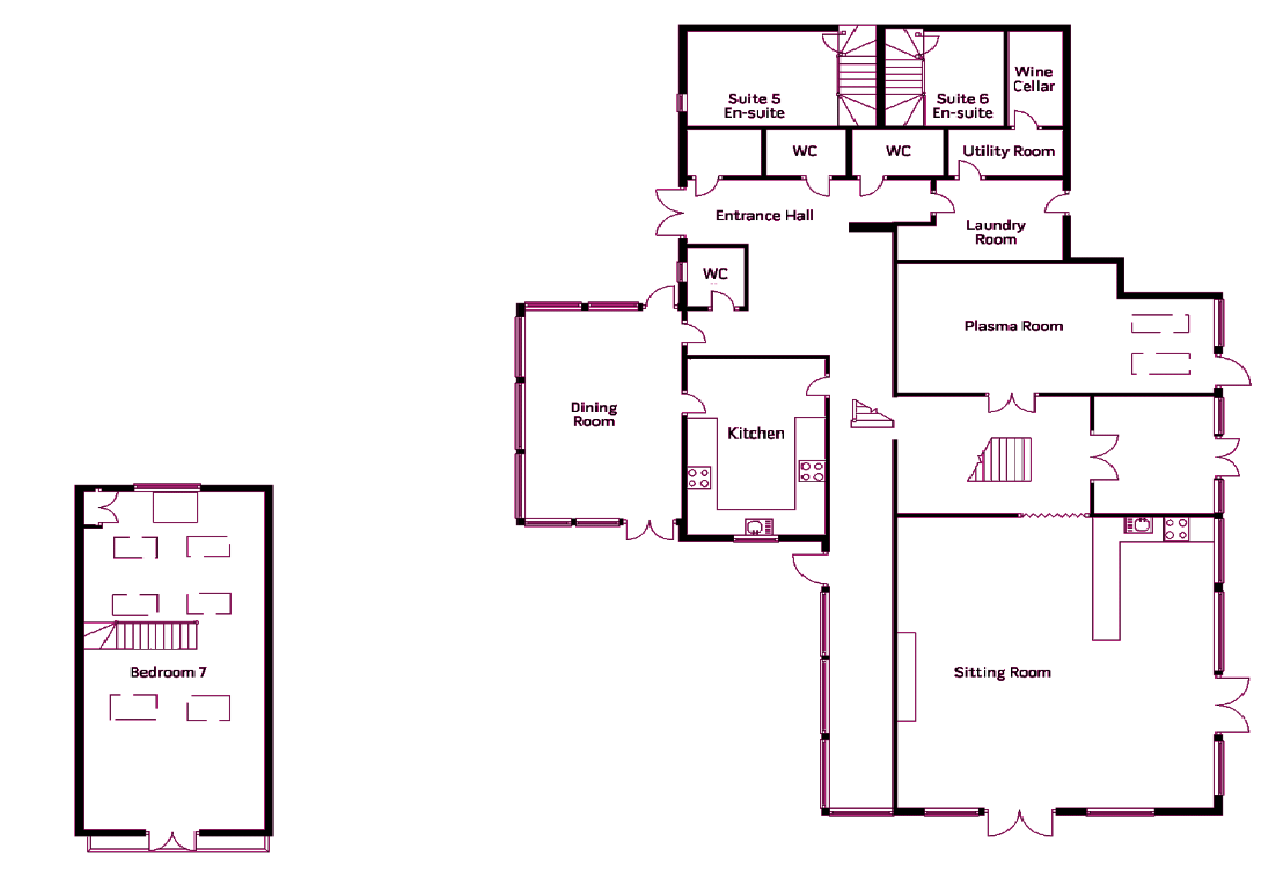 Bellis house south devon floor plans luxury house rental Rental house plans
